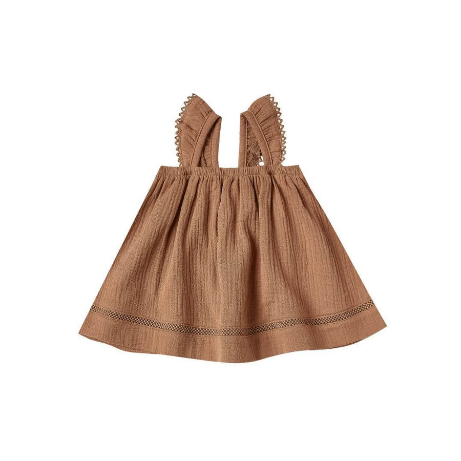 QM044B - Quincy Mae Rust Ruffled Tank Dress Dress Quincy Mae