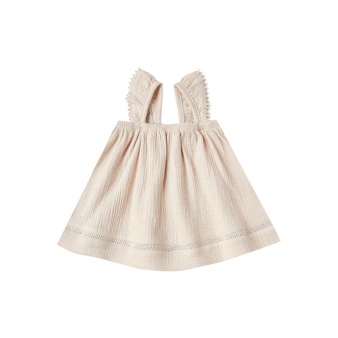 QM044C - Quincy Mae Natural Ruffled Tank Dress Dress Quincy Mae