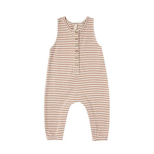 QM158E - Quincy Mae Rust Stripe Sleeveless Jumpsuit Jumpsuits / Rompers Quincy Mae