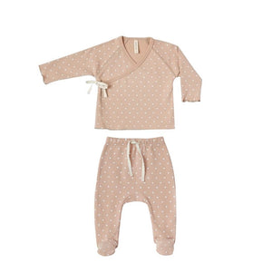 QM201C - Quincy Mae Petal Kimono Top + Footed Pant Set Outfit Quincy Mae