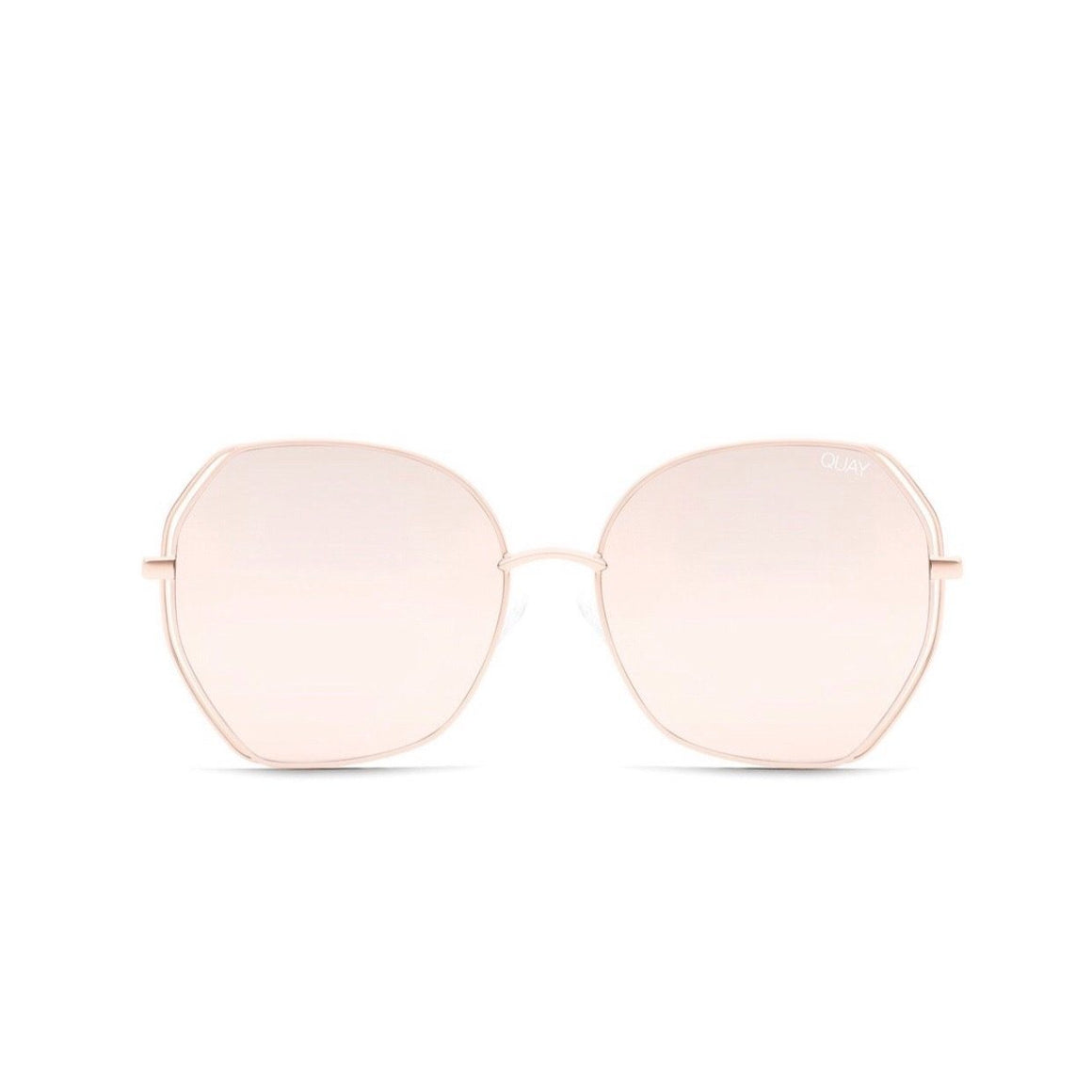 Quay - Big Love Sunglasses - Rose/Rose Sunglasses Quay
