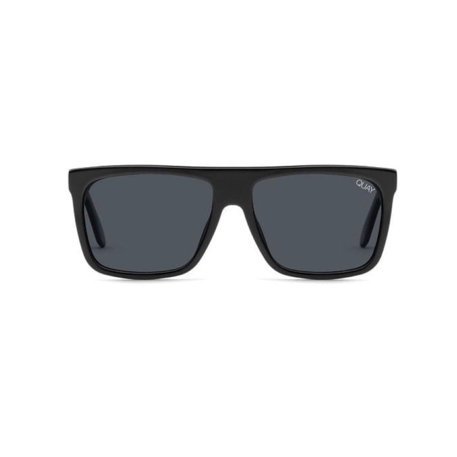 Quay - Front Runner Sunglasses - Black / Smoke Sunglasses Quay
