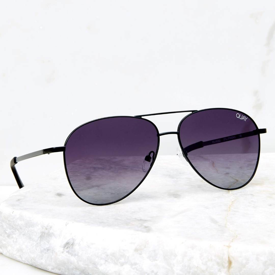 Quay - Still Standing - Black / Smoke Sunglasses Quay