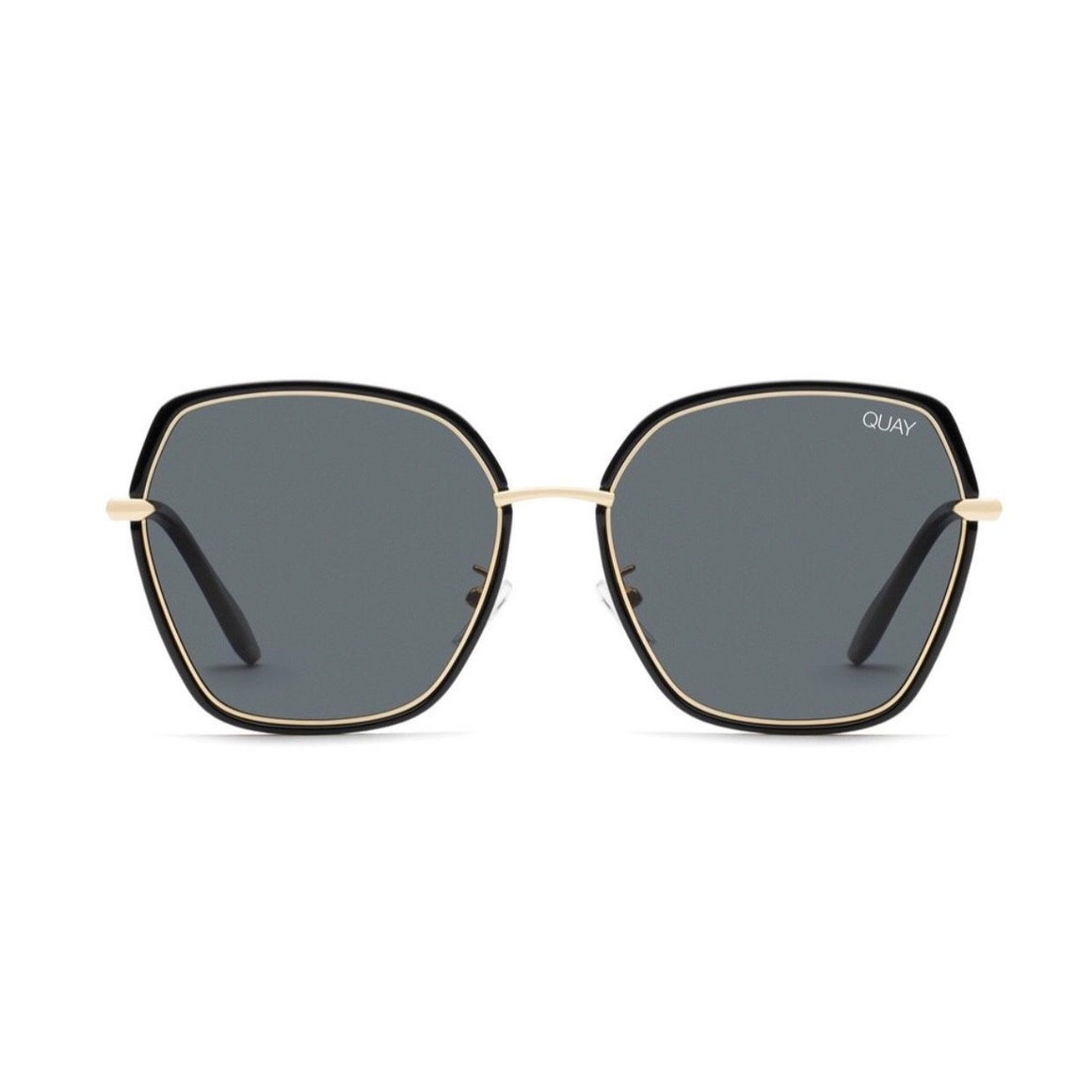 Quay - Verve Sunglasses - Black / Smoke Sunglasses Quay