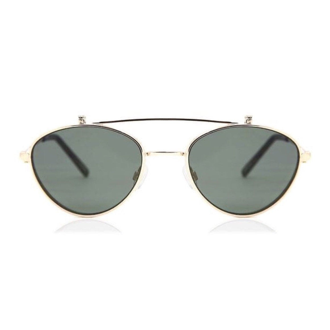 Quay x Elle Ferguson - Elle Adult Sunglasses - Gold/Green Sunglasses Quay