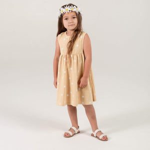 RC003C Rylee & Cru Sunburst Layla Dress - Citron Dress Rylee & Cru