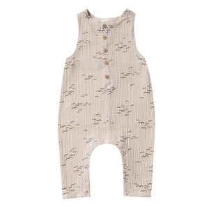 RC029B Rylee & Cru Flock Button Jumpsuit - Natural Romper Rylee & Cru