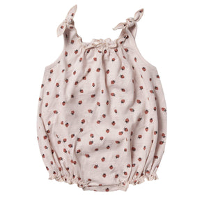 RC078A Rylee & Cru Strawberry Shoulder Tie Onesie - Lilac Onesie Rylee & Cru