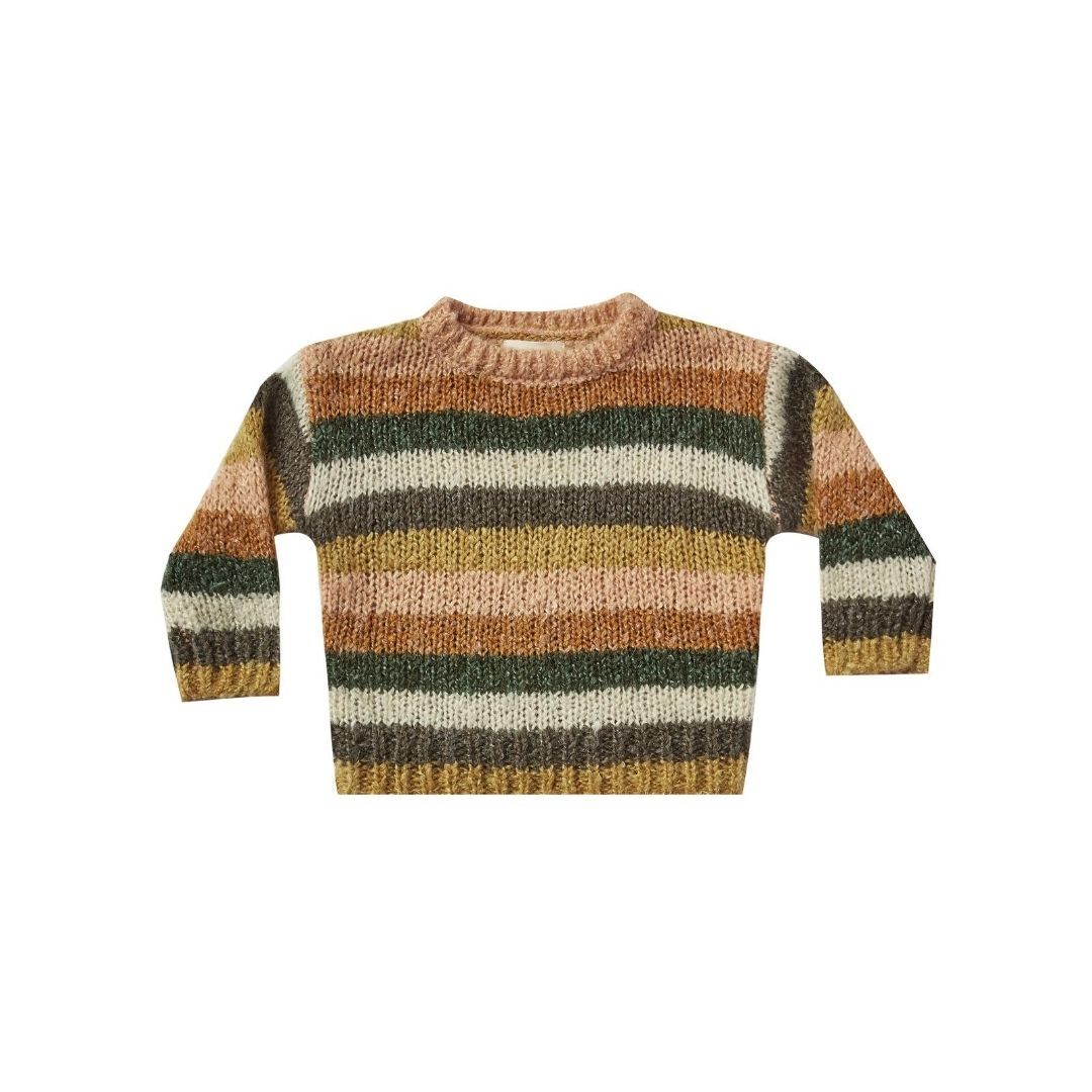 RC181 Rylee & Cru Stripe Aspen Sweater - Forest Combo Sweater Rylee & Cru
