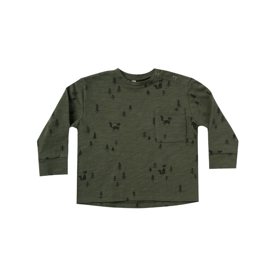 RC267 Rylee & Cru Woods Long Sleeve Skater T - Forest Long Sleeve Shirt Rylee & Cru