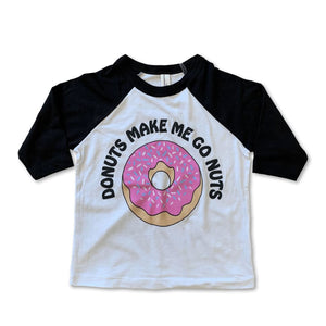 Rivet Apparel Co. - Donuts Baseball Tee Short Sleeve Shirts Rivet Apparel Co.