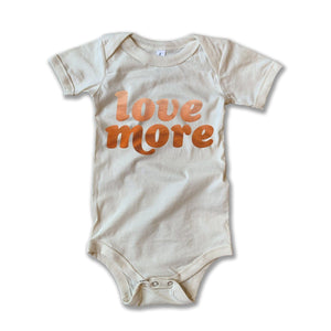 Rivet Apparel Co. - Love More Unisex Baby Onesie Onesie Rivet Apparel Co.