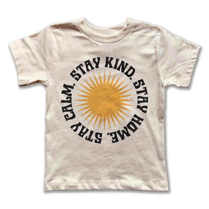 Rivet Apparel Co. - Stay Home Adult Tee - Natural Short Sleeve Shirt Rivet Apparel Co.