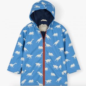 S19DIK818 Hatley - Colour Changing Silhouette Dinos Splash Jacket Rain Coat Hatley