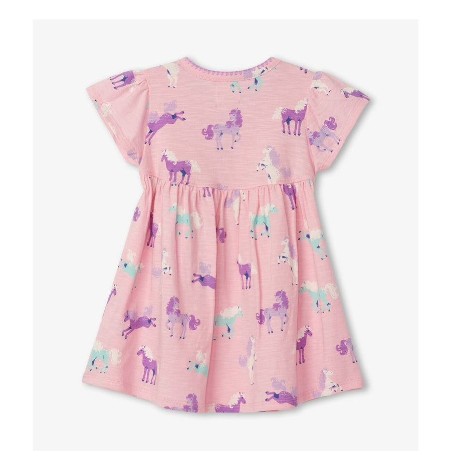 S20PPI1362 Hatley Playful Ponies Baby Puff Dress Dress Hatley