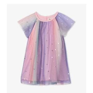 S20RBI1422 Hatley Metallic Hearts Baby Rainbow Tulle Dress Dress Hatley