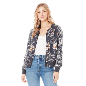 Saltwater LUXE - Women's Crossfire Bomber- Garden Dream Jacket Saltwater LUXE XS Garden Dream