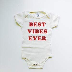 Savage Seeds - Best Vibes Ever Organic Baby Onesie - Natural Onesie Savage Seeds