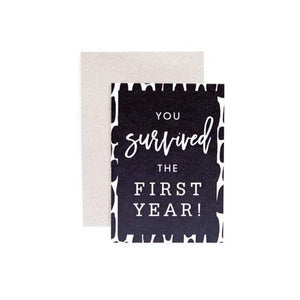 Seriously Milestones - You Survived the First Year Card Card Seriously Milestones