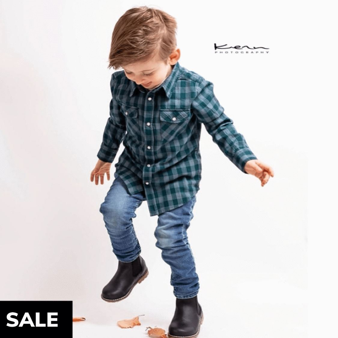 Small Rags - Huxi Boys Long Sleeve Shirt - Ponderosa Pine Long Sleeve Shirts Small Rags
