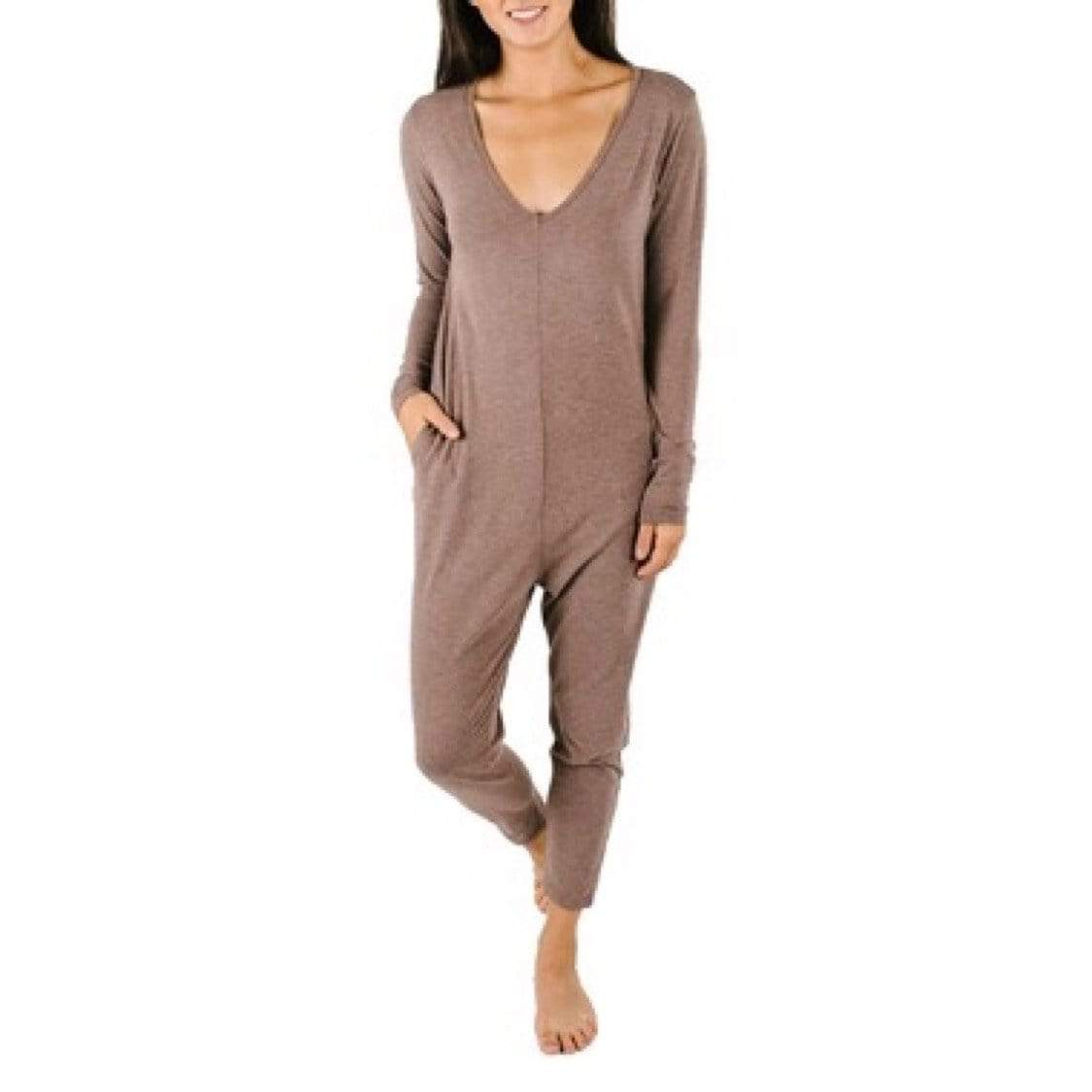 Smash + Tess- Friday Romper In Chai Latte Jumpsuits / Rompers Smash+Tess