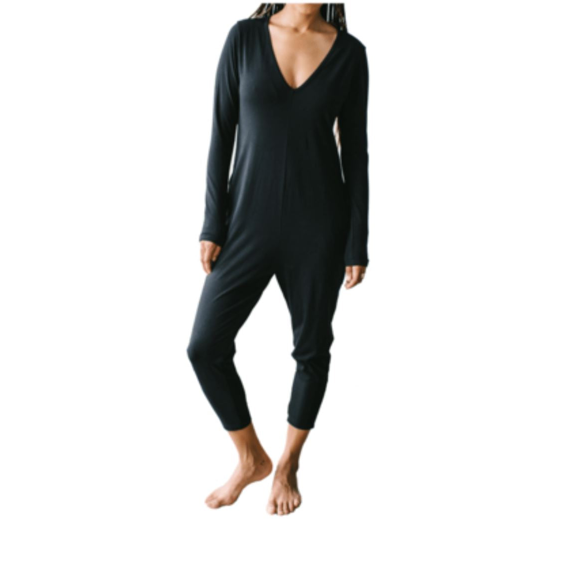 Smash + Tess- Friday Romper In Midnight Black Jumpsuits / Rompers Smash+Tess