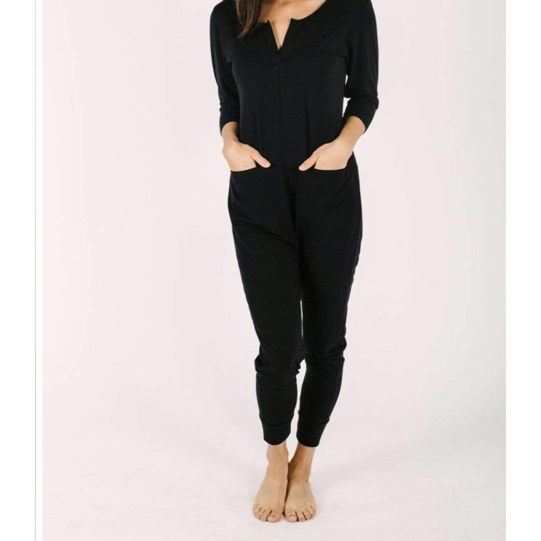 Smash + Tess- The Monday Romper in Midnight Black Jumpsuits / Rompers Smash+Tess