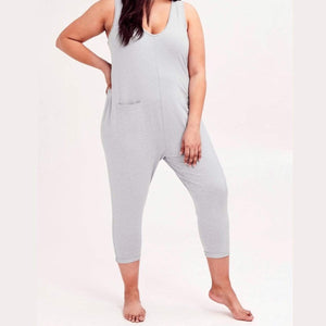 Smash + Tess- The Saturday Romper In Jillian Grey Jumpsuits / Rompers Smash+Tess