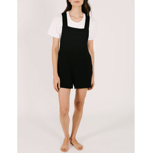 Smash + Tess- The Shorty Romperals In Midnight Black Jumpsuits / Rompers Smash+Tess