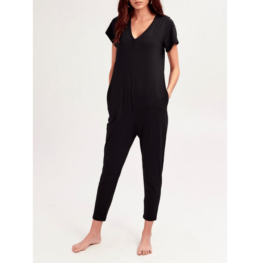 Smash + Tess- The Sunday Romper In Midnight Black Jumpsuits / Rompers Smash+Tess