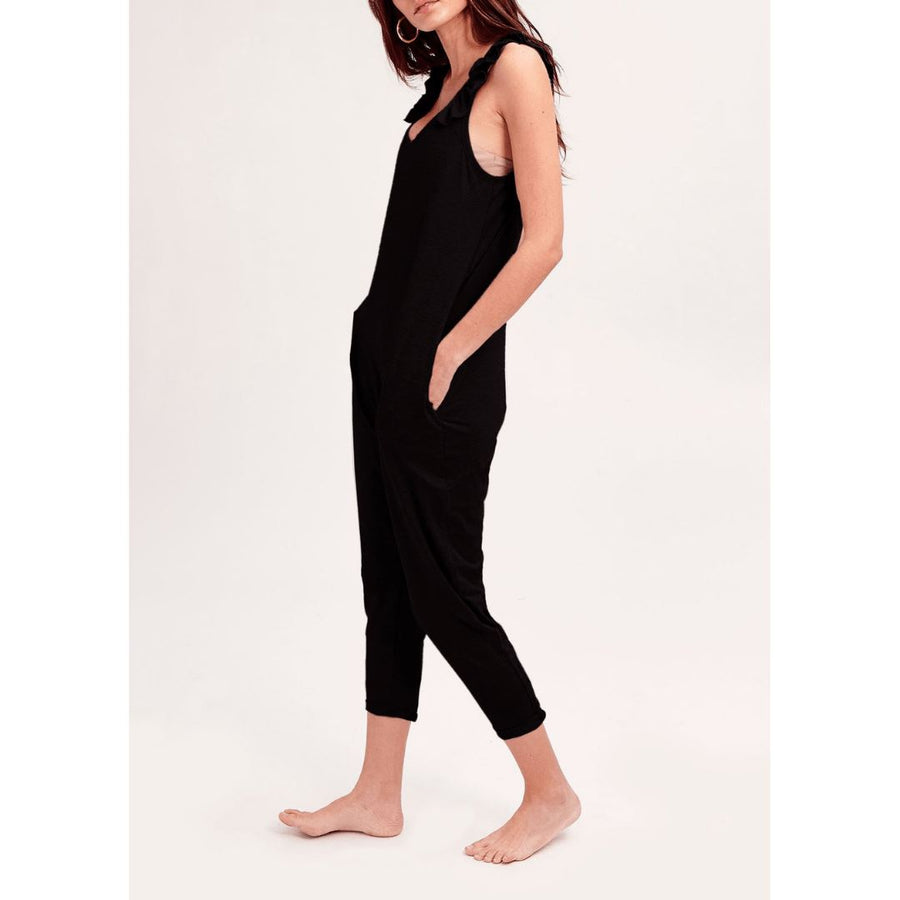 Smash + Tess- The Sweetheart Romper In Midnight Black Jumpsuits / Rompers Smash+Tess