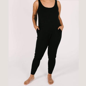 Smash + Tess - The Tuesday Romper in Midnight Black Jumpsuits / Rompers Smash+Tess