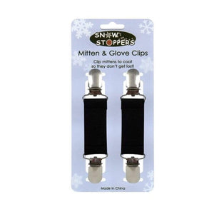 Snowstoppers Kids Black Mitten & Glove Clips Mittens Snow Stoppers
