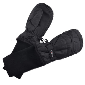 Snowstoppers Kids Stay-On Waterproof Mittens - Black Mittens Snow Stoppers