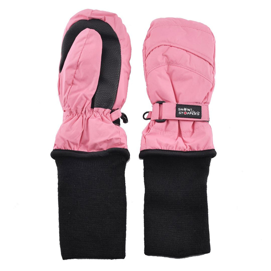 Snowstoppers Kids Stay-On Waterproof Mittens - Coral Pink Mittens Snow Stoppers