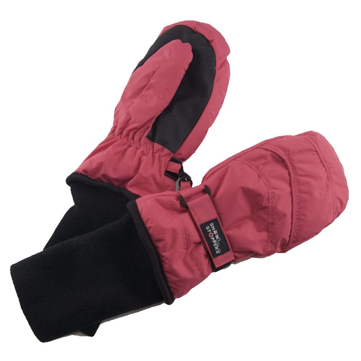 Snowstoppers Kids Stay-On Waterproof Mittens - Fuchsia Mittens Snow Stoppers