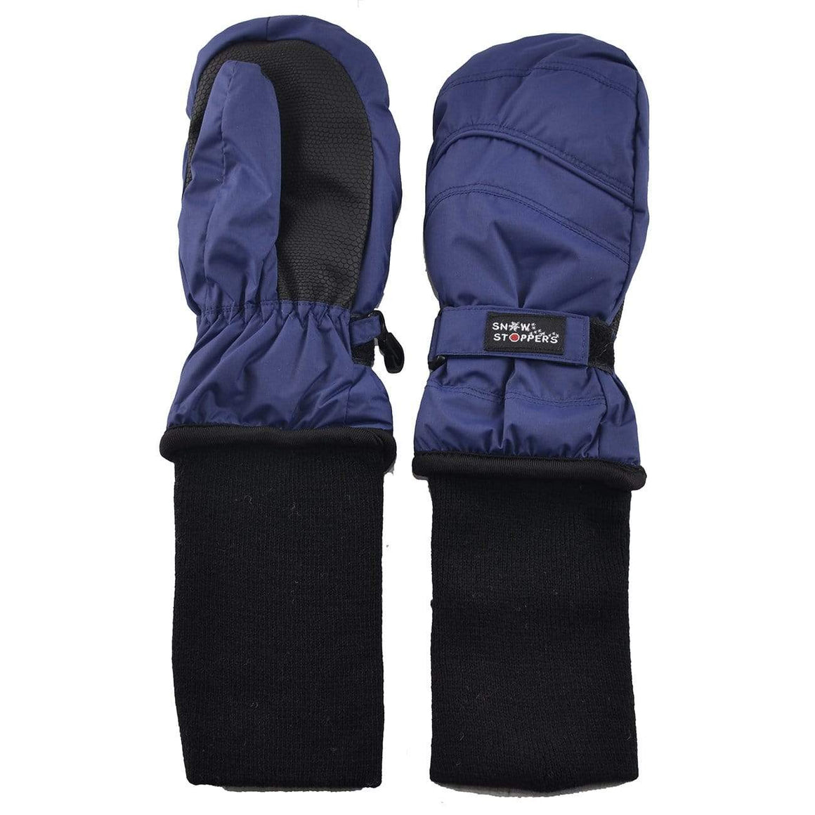 Snowstoppers Kids Stay-On Waterproof Mittens - Navy Mittens Snow Stoppers