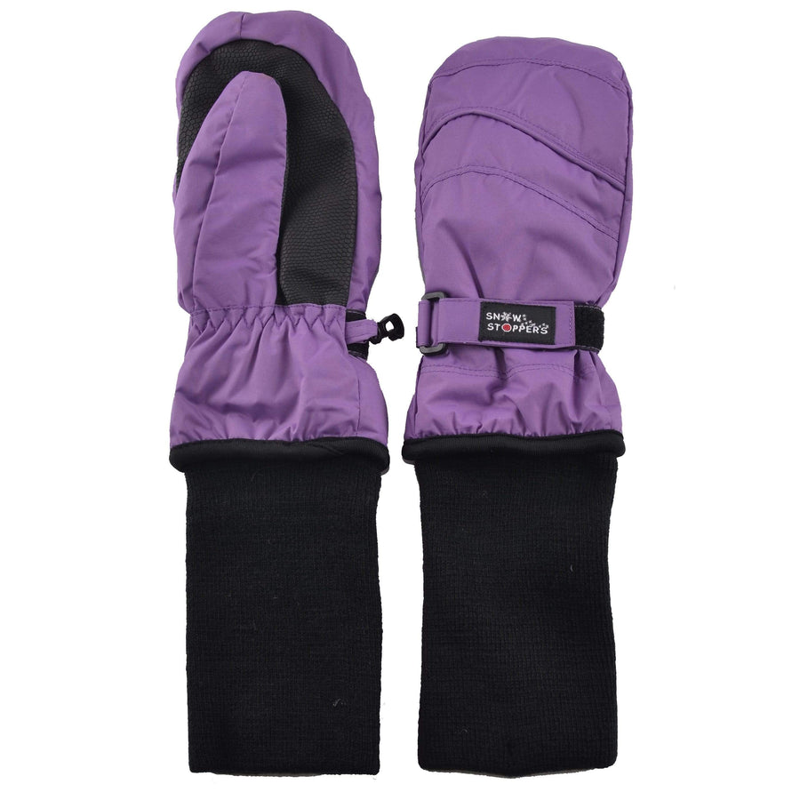 Snowstoppers Kids Stay-On Waterproof Mittens - Purple Mittens Snow Stoppers