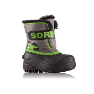 SOREL Snow Commander Boot - Quarry / Cyber Green Footwear Sorel