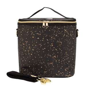 SoYoung Black Paper-Gold Splatter Lunch Poche Cooler Bag SoYoung