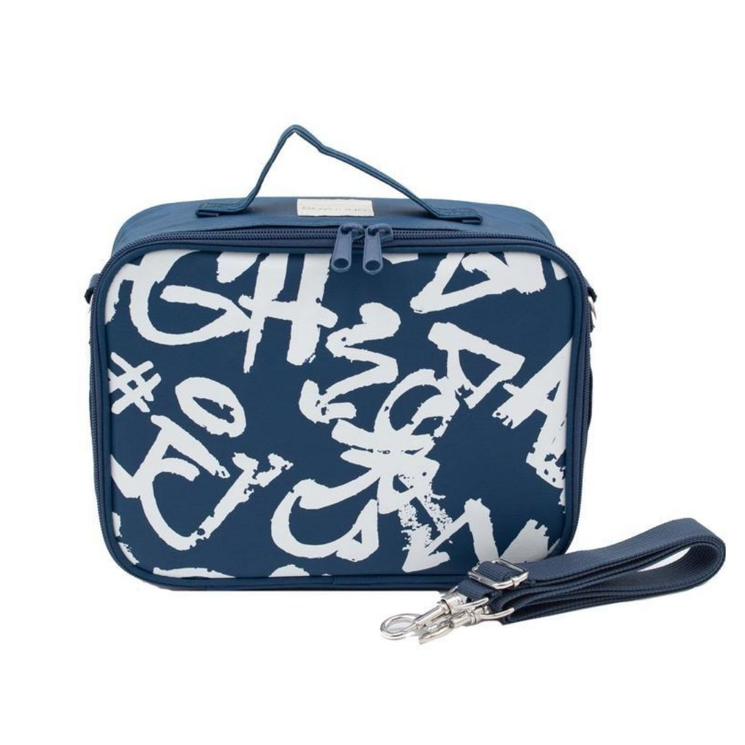 SoYoung Navy Paper White Grafitti Lunch Box Lunch Box SoYoung