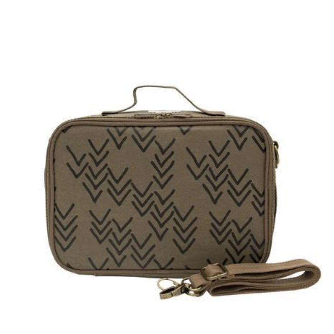 SoYoung Olive Paper Chevron Lunch Box Lunch Box SoYoung