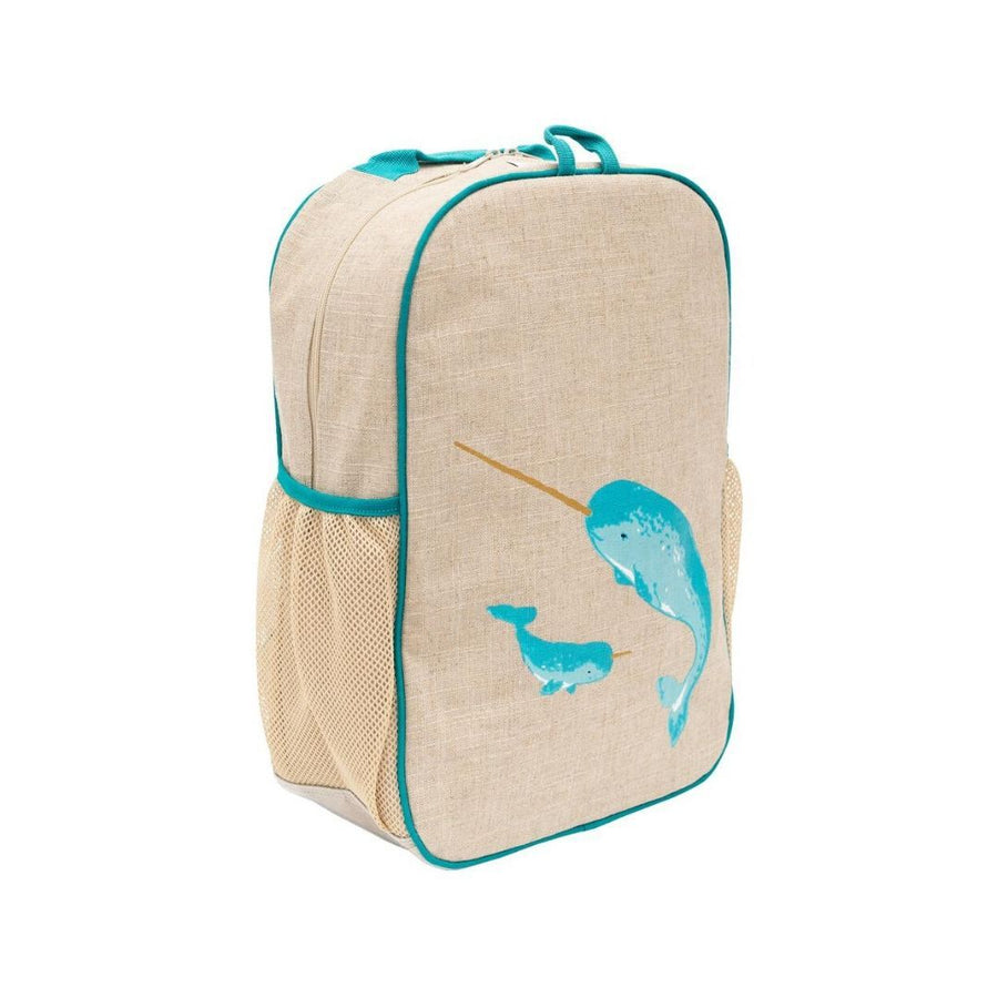 SoYoung - Teal Narwhal Grade School Backpack Backpack SoYoung