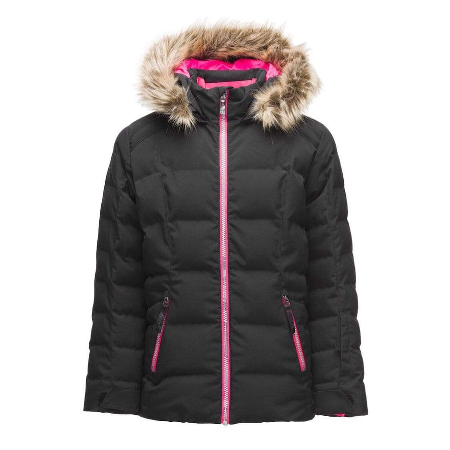 Spyder - Girls Atlas Synthetic Down Black Jacket Winter Jacket Spyder 8 Years