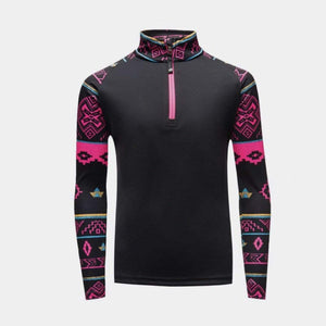 Spyder - Girls Surface Sweater Weather Print Zip-Up Top Sweatshirt Spyder