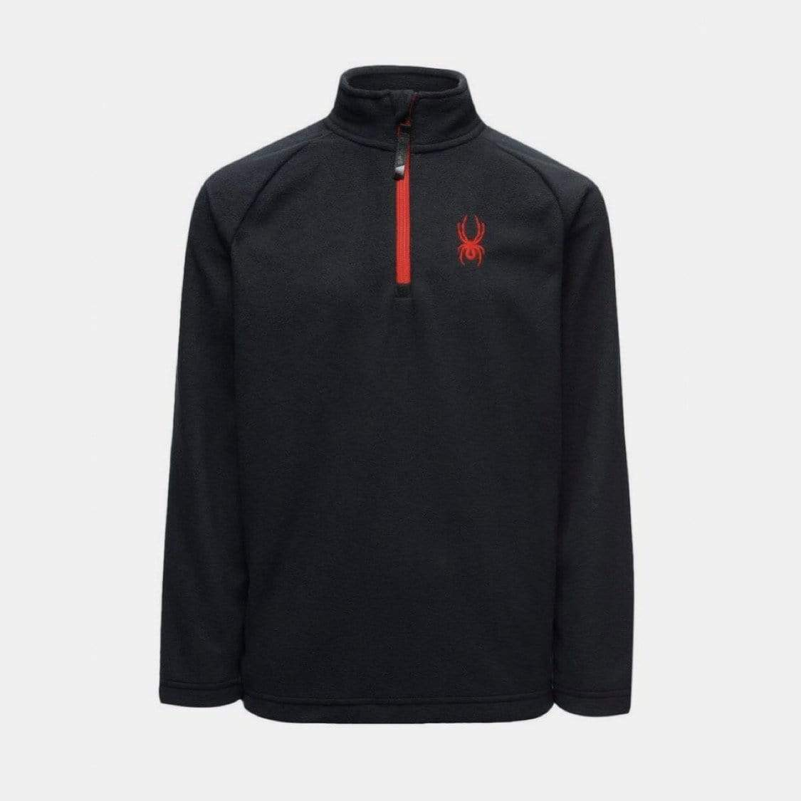 Spyder - Speed Fleece Black Zip T-Neck Sweatshirt Spyder S