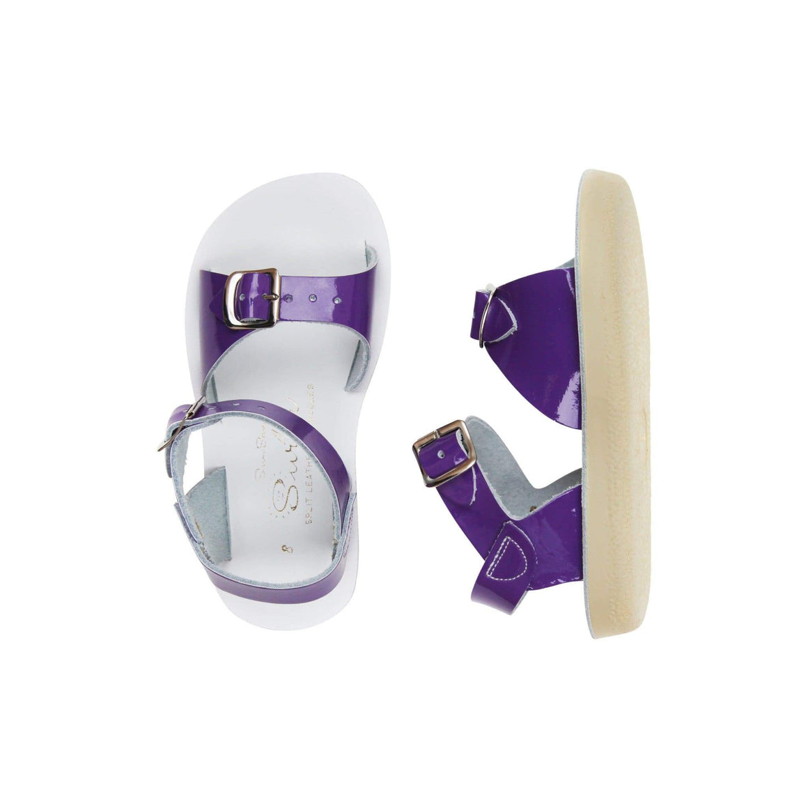 Surfer Salt Water Sandals - Shiny Purple Sandals Salt Water Sandals