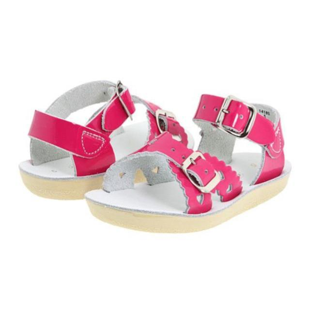Sweetheart Salt Water Sandals - Shiny Fuscia Sandals Salt Water Sandals