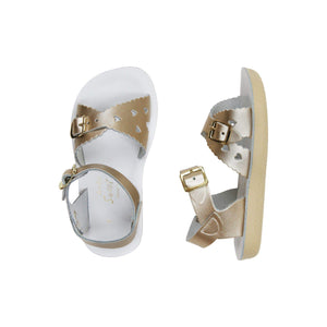 Sweetheart Salt Water Sandals - Shiny Gold Sandals Salt Water Sandals