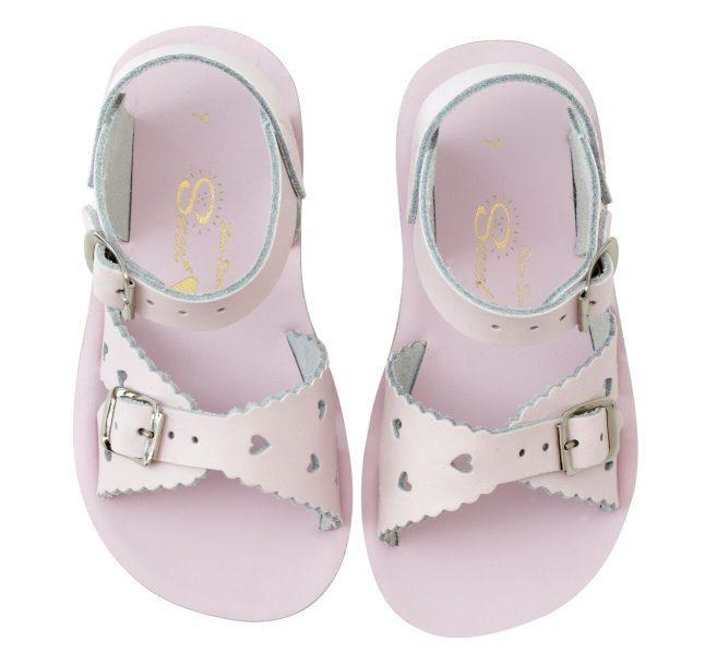 Sweetheart Salt Water Sandals - Shiny Pink Sandals Salt Water Sandals 5
